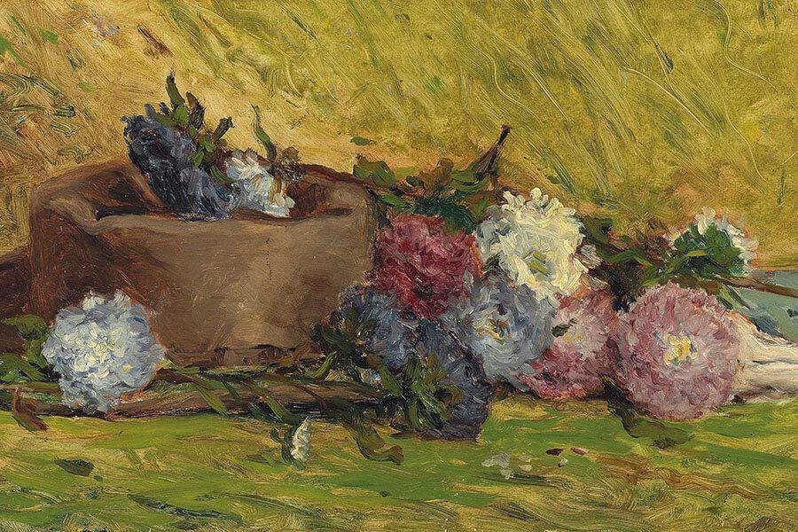 Paul Gauguin, Reine-marguerites, chapeau et livre