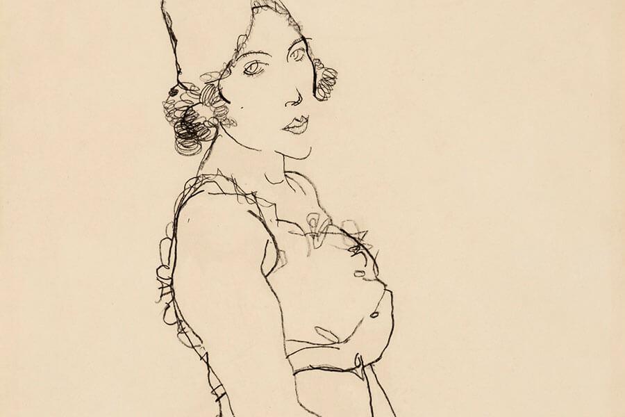 Egon Schiele, STEHENDES MÄDCHEN (STANDING WOMAN)