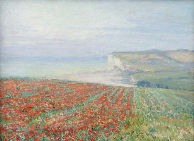 radimsky A Blossoming Poppy Field in Normandy